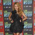 Paulina Rubio à l'occasion de la soirée Los Premios MTV, le 15 octobre 2009, aux studios Universal de Los Angeles.