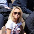 Cécile de Ménibus - People dans les tribunes lors des internationaux de France de tennis de Roland Garros 2019 à Paris. Le 28 mai 2019. © Jacovides-Moreau/Bestimage