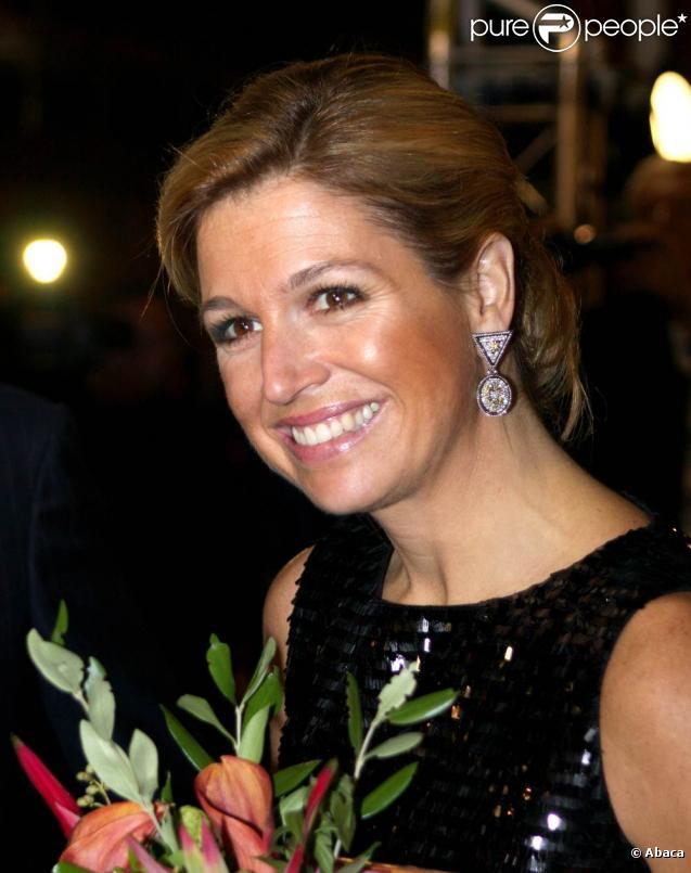 Maxima et Willem-Alexander des Pays-Bas inaugurent une exposition sur le sultanat d'Oman, à Amsterdam, le 15 octobre 2009