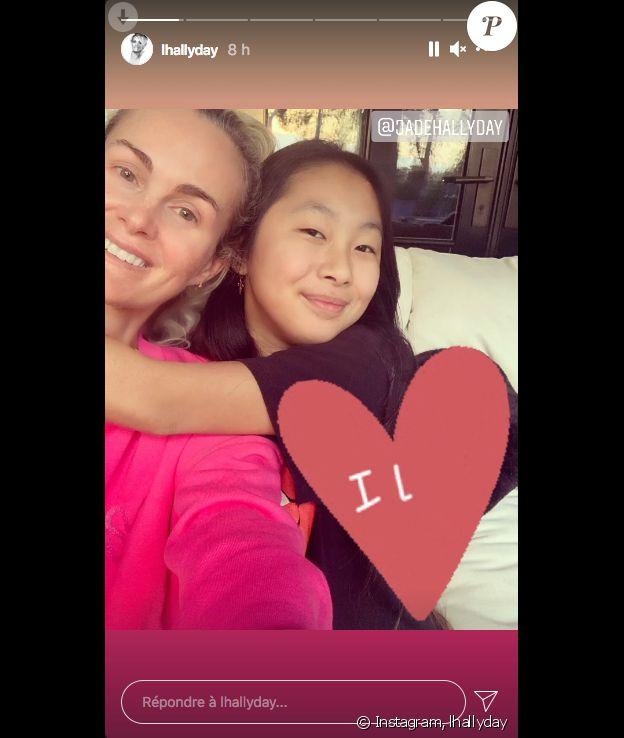 Laeticia Hallyday et sa fille Jade sur Instagram, le 25 janvier 2021.