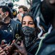 Leïla Bekhti - People à la manifestation de soutien à Adama Traoré devant le tribunal de Paris le 2 juin 2020. © Cyril Moreau / Bestimage