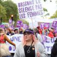 Marilou Berry - De nombreuses artistes et personnalités marchent contre les violences sexistes et sexuelles (marche organisée par le collectif NousToutes) de place de l'Opéra jusqu'à la place de la Nation à Paris © Cyril Moreau / Bestimage