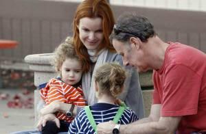 Marcia Cross : Balade avec ses deux adorables jumelles et son mari... qui va mieux !