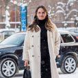 La princesse Sofia (Hellqvist) de Suède à son arrivée pour la cérémonie de remise des diplômes numérique d'infirmières de Sophiahemmet Högskolas à l'hôpital Sophiahemmet à Stockholm, le 5 février 2021.