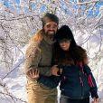 Emmanuelle Rivassoux et son mari Gilles Luka à la montagne, en janvier 2021