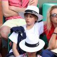 Vahina Giocante - People assistent au quart de finale entre Rafael Nadal et Stanislas Wawrinka à Roland-Garros. Le 5 juin 2013.