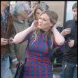 Hilary Duff sur le tournage de son prochain film  The Business Of Falling In Love , le 20 octobre 2009