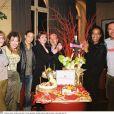 Anémone, Clémentine Célarié, Steevy Boulay, Catherine Jacob, Laurent Spielvogel, Vincent Mc Doom et Thierry Mugler au restaurant L'Etoile à Paris.