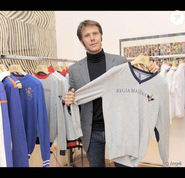 Emmanuel Philibert de Savoie présente sa nouvelle collection de vêtements, à Milan. 21/10/09