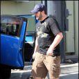 Chris Pratt et Woofy, en promenade à Hollywood, à Los Angeles, le 25 octobre 2009 !