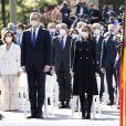 Le roi Felipe VI et la reine Letizia d'Espagne lors de la cérémonie européenne d'hommage aux victimes du terrorisme au Palais Royal à Madrid. Le 11 mars 2021