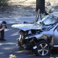 La voiture de Tiger Woods après son accident de voiture à Los Angeles. Le 23 février 2021.