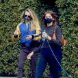 Exclusif - Kaia Gerber et Cara Delevingne sont allés ensemble à leur cours de pilates à Los Angeles, le 15 février 2021.