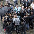 """Gerard Depardieu organise une pendaison de cremaillère dans sa propriété de Néchin en Belgique, """"La Villa White Cloud"""". Le 24 août 2013."""