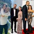 Tony Parker, marié et divorcé deux fois avec Axelle Francine (au milieu) et Eva Longoria (à droite), vient d'officialiser sa nouvelle relation avec Alizé Lim.
