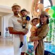Tony Parker et sa femme Axelle Francine ont fêté les 6 ans de leur fils Josh avec une belle fête d'anniversaire sur le thème du safari dans leur maison de San Antonio. Le 29 avril 2020.