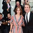 """Jean Dujardin et sa femme Nathalie Péchalat - Red carpet pour le film """"J'accuse !"""" lors du 76e festival du film de venise, la Mostra le 30 août 2019."""