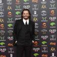 Asier Etxeandia au photocall de la 34ème édition des Goyas Cinema Awards à Malaga le 25 janvier 2020.