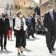 Le roi Felipe VI et la reine Letizia d'Espagne en visite à Fuendetodos, à l'occasion du 275ème anniversaire de la naissance du peintre espagnol Francisco de Goya. Le 29 mars 2021