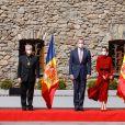 Le roi Felipe et la reine Letizia d'Espagne, en visite à Andorre-la-Vieille, le 25 mars 2021.