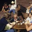 En France, près d'Avignon, rendez-vous avec Renaud et son frère Thierry Séchan dans un ranch. Le 28 août 1984 © Michel Ristroph via Bestimage