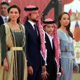 La reine Rania de Jordanie, le prince Hussein bin Abdallah, le prince Hashem bin Abdullah et la princesse Salma - Cérémonie du 73 ème anniversaire de l'indépendance de la Jordanie à Amman le 25 Mai 2019. © Imago / Panoramic / Bestimage