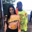 Kim Kardashian et Kanye West au Diamond Cross Ranch dans la vallée de Jackson Hole, dans le Wyoming. Mai 2018.