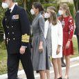 Le roi Felipe VI d'Espagne, la reine Letizia d'Espagne, La princesse Leonor et L'infante Sofia d'Espagne - La famille royale d'Espagne assiste au lancement du sous-marin S-81 'Isaac Peral' à Carthagène, Espagne, le 22 avril 2021.