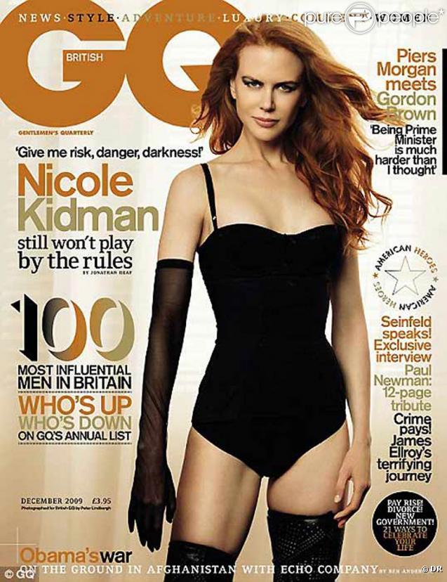 Nicole Kidman très glamour... en couverture de GQ !