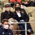 L'animatrice et ancienne Miss France 2015, Camille Cerf assiste au tournoi de tennis de Roland Garros à Paris, le 6 octobre 2020.