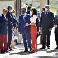 La reine Letizia d'Espagne arrive à la cérémonie d'ouverture du VIe Congrès éducatif sur les maladies rares à Totana, le 30 avril 2021.