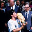 Diego Maradona et la coupe du monde - Argentine - Coupe du Monde 1986 - action largeur archives joie . © FEP / Panoramic / Bestimage