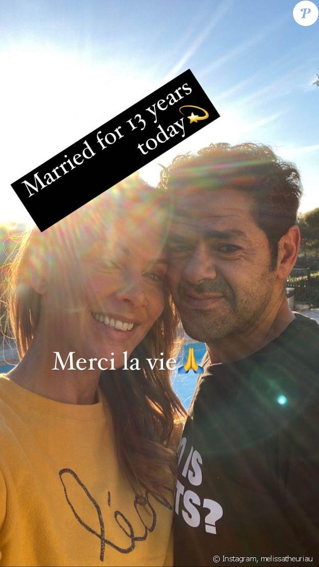 Mélissa Theuriau et Jamel Debbouze fêtent leurs 13 ans de mariage sur Instagram, le 7 mai 2021.