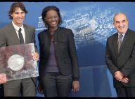La jolie Rama Yade littéralement sous le charme... du champion des champions Rafael Nadal !