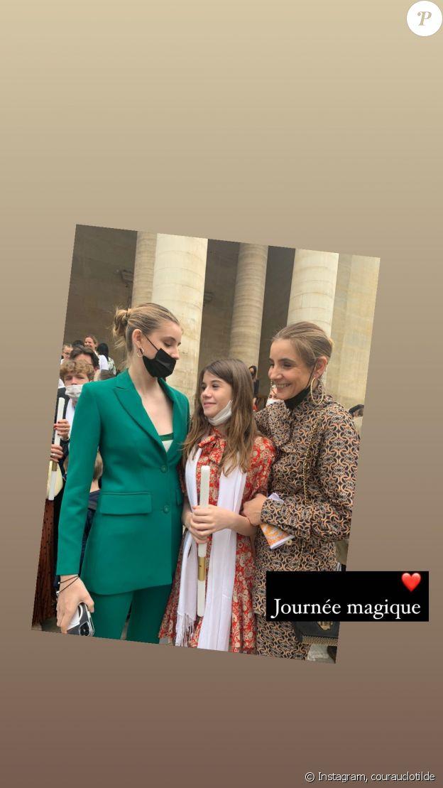 Clotilde Courau et ses filles Vittoria et Luisa sur Instagram, le 5 juin 2021.