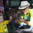 Garcelle Beauvais et ses adorables enfants Jax Joseph et Jaid Thomas pour une après-midi complice au parc à Los Angeles