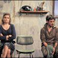 Benjamin Bellecour et Sarah Biasini dans Qu'est-ce qu'on attend ? le 10 novembre 2009 au théâtre Ciné 13 à Paris