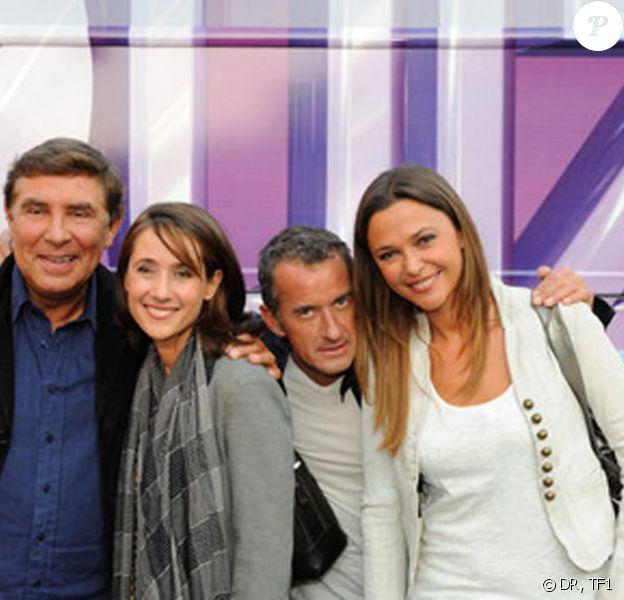 Jean-Pierre Foucault, Alexia Laroche-Joubert, Christophe Dechavanne et Sandrine Quétier