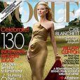 Cate Blanchett en couverture de  Vogue .