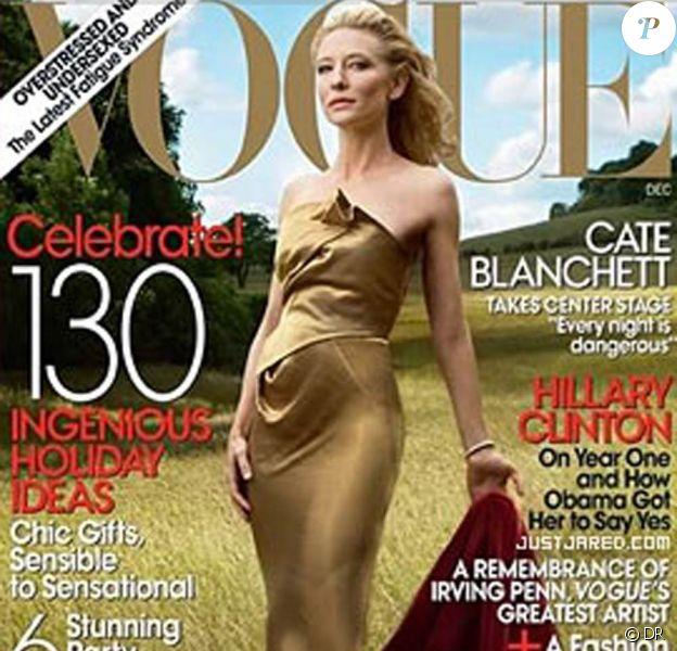 Cate Blanchett en couverture de Vogue.