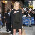 Sharon Stone à la sortie du show de David Letterman à New York le 16/11/09
