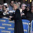 Sharon Stone à la sortie du show de David Letterman le 16/11/09
