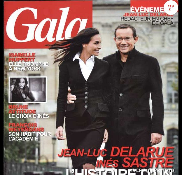 Jean-Luc Delarue et Inès Sastre en couverture de Gala