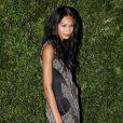 Chanel Iman avec un look au top à la soirée Vogue à New York le 17/11/09