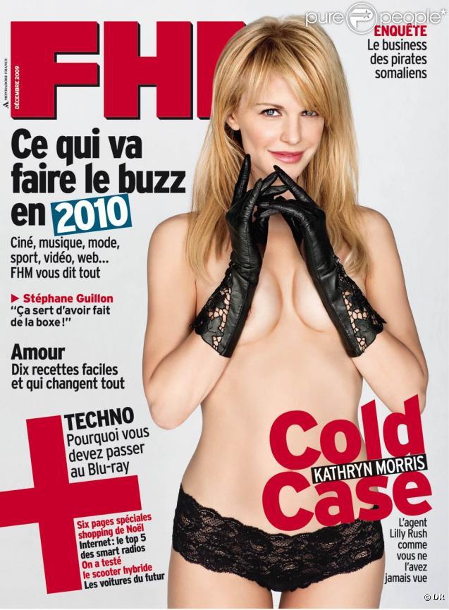 La ravissante Kathryn Morris en couverture de  FHM .