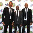Claude Makelele, entouré de Didier Drogba et de Nicolas Anelka, au Dorchester Hotel de Londres, lors de la soirée organisée par la Fondation Didier Drogba.