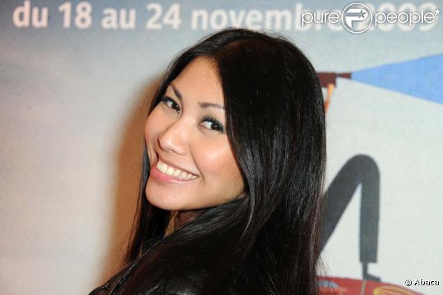 Anggun lors de la clôture du 27e Festival du film d'environnement, le 24 novembre à Paris.