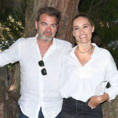 """Clovis Cornillac et sa femme Lilou Fogli - Photocall du film """"C'est magnifique"""" lors du 14ème Festival du Film Francophone d'Angoulême. Le 27 août 2021 © Coadic Guirec / Bestimage"""