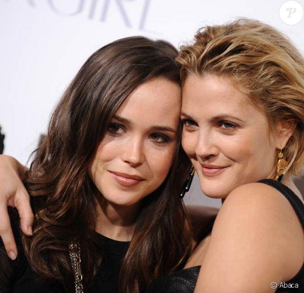 Les craquantes Ellen Page et Drew Barrymore, à l'occasion de l'avant-première de Bliss, à Los Angeles, en novembre 2009.