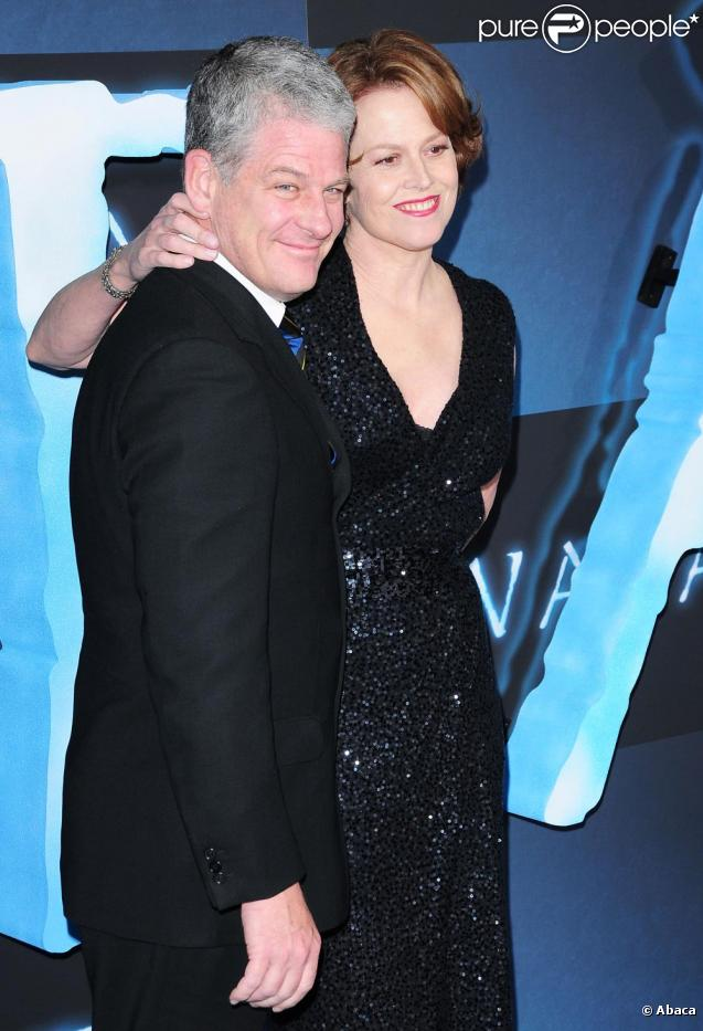 Sigourney Weaver with gracious, endearing, friendly, Husband Jim Simpson